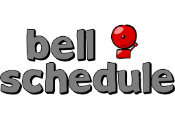Bell Schedule with image of a bell